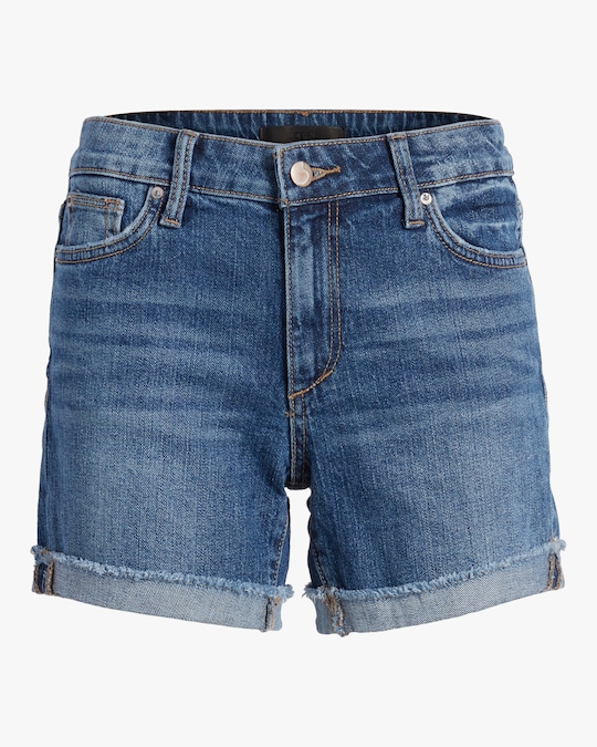 Joe's Jeans Bermuda Frayed-Cuff Shorts 0