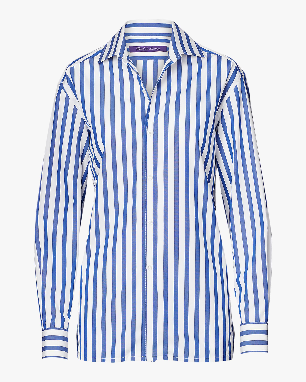 Ralph Lauren Collection Capri Striped Cotton Shirt 0