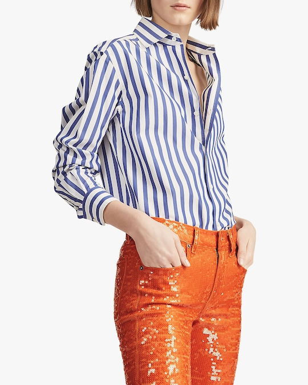Ralph Lauren Collection Capri Striped Cotton Shirt 1
