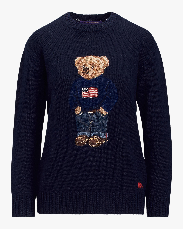 Ralph Lauren Collection Flag Bear Sweater 0