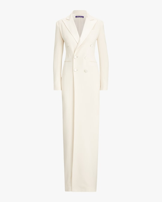Ralph Lauren Collection Kristian Evening Silk Tuxedo Dress 0