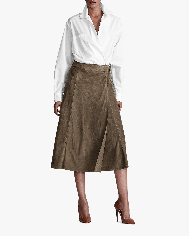 Ralph Lauren Collection Christiane Suede Skirt 1