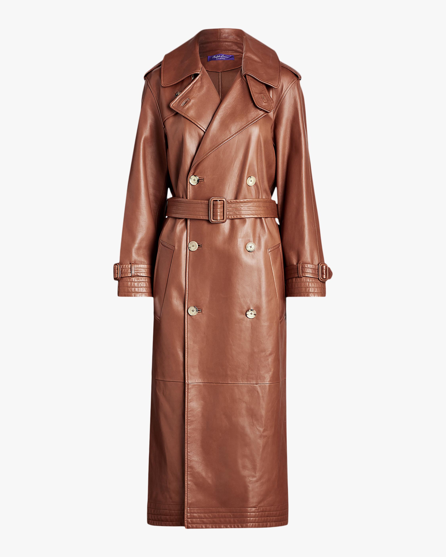 Ralph Lauren Collection Callahan Leather Trench Coat 0