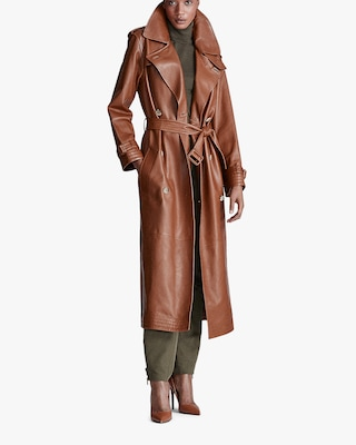 Callahan Leather Trench Coat