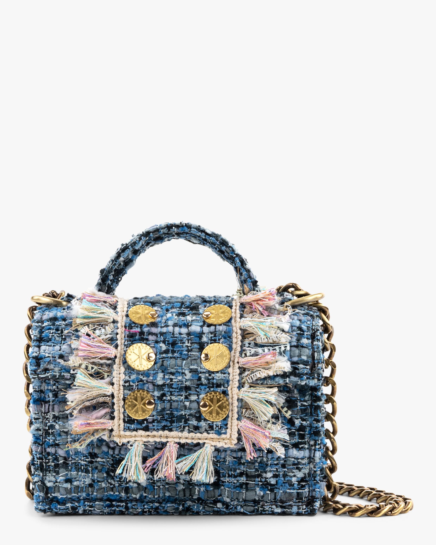 Kooreloo Petite Gold Coin Tweed Handbag 0