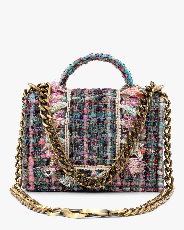 Petite Gold Coin Tweed Handbag