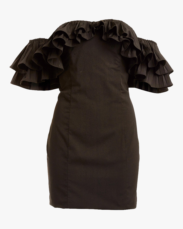 Mestiza Lulu Faille Mini Dress 0