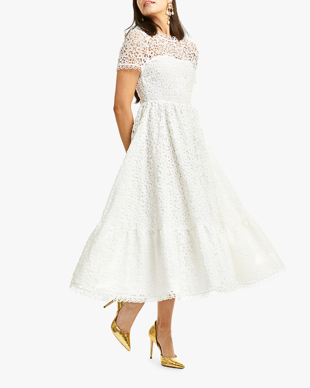 Mestiza Alfama Daisy-Chain Lace Midi Dress 0