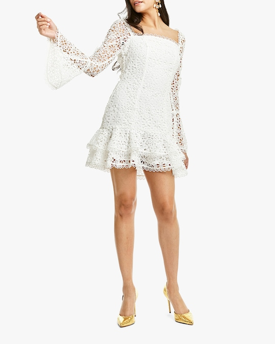 Mestiza Sintra Daisy-Chain Lace Mini Dress 0