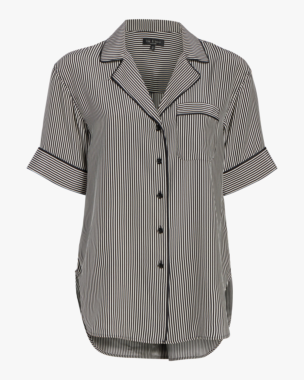 rag & bone Luca Short-Sleeve Pajama Top 0