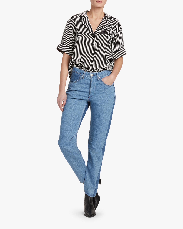 rag & bone Luca Short-Sleeve Pajama Top 1