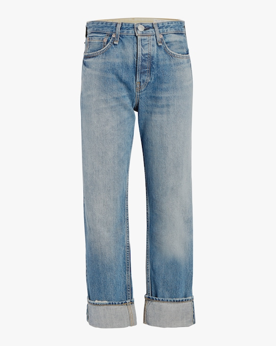 rag & bone Maya High-Rise Ankle Straight Jeans 0