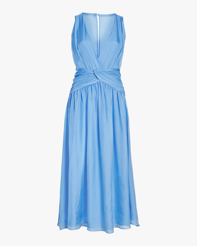 Divine Heritage Sleeveless V-Neck Midi Dress 1