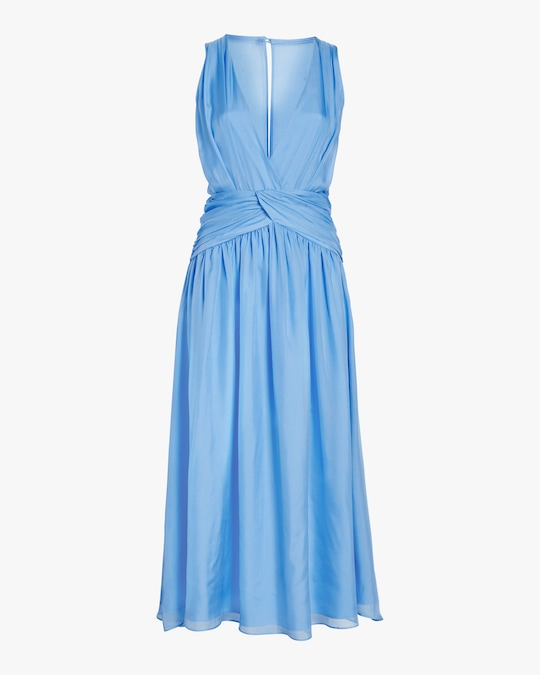 Divine Heritage Sleeveless V-Neck Midi Dress 0