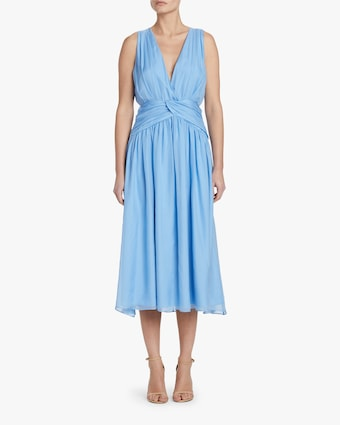 Divine Heritage Sleeveless V Neck Midi Dress 2