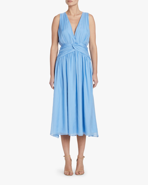 Divine Heritage Sleeveless V-Neck Midi Dress 2