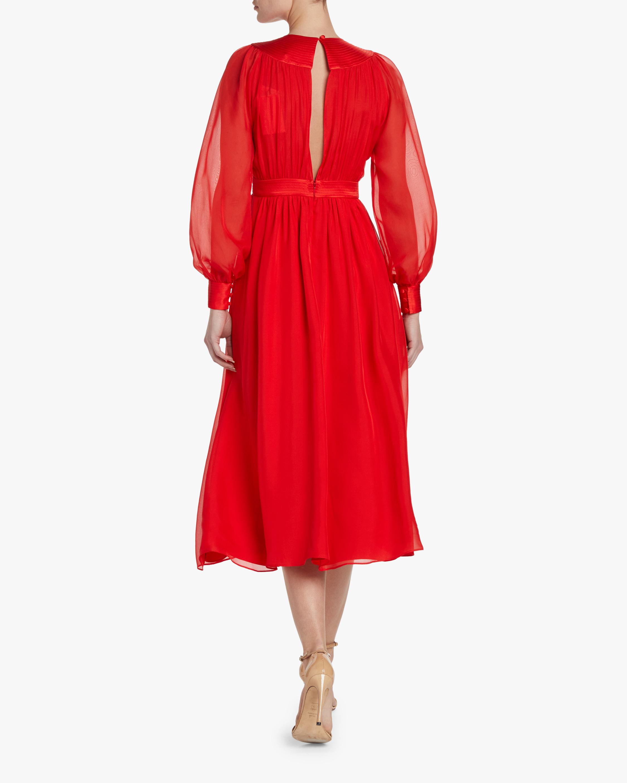 Divine Heritage V-Neck Pleated Midi Dress 2