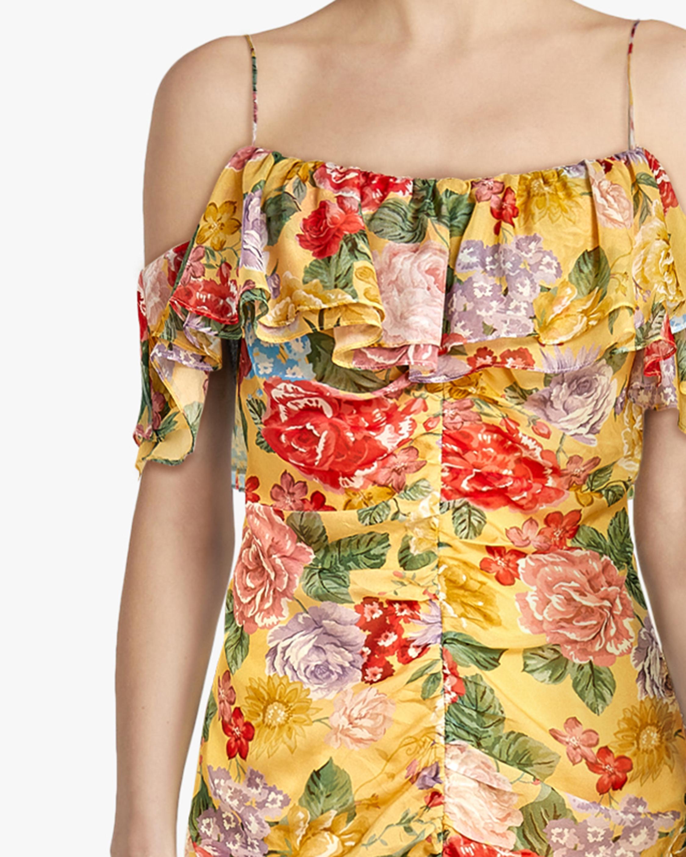 Divine Heritage Cold-Shoulder Ruched Midi Dress 3