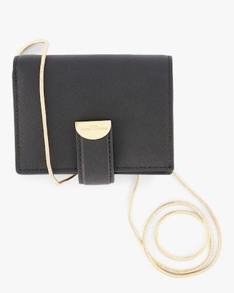 The Half Moon Small Card Case With Chain