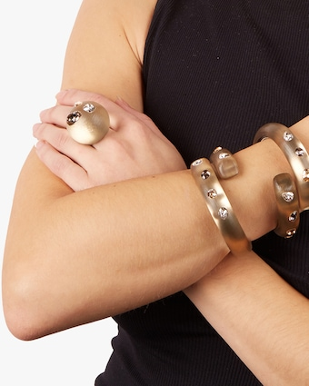 Crystal Studded Bypass Hinge Bracelet