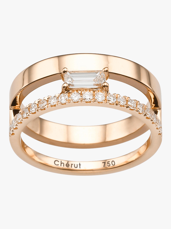 V.O.F Baguette Ring