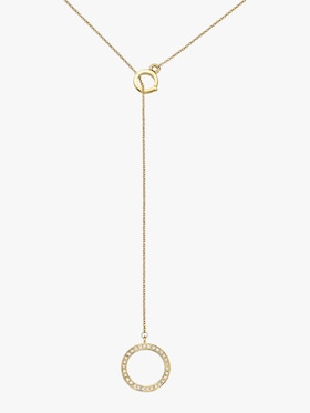 K.E.M Circle Diamond Lariat