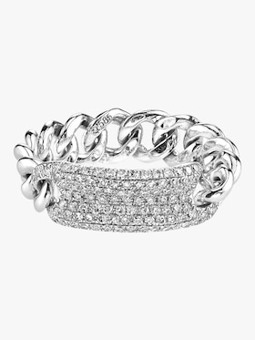 Essential Pavé ID Link Ring