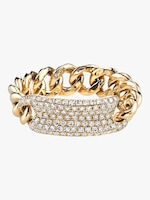 Shay Jewelry Essential Pavé ID Link Ring 0