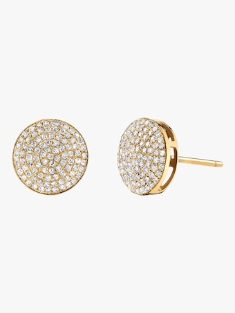 Essential Round Pave Diamond Studs