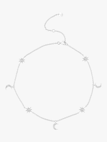 Moon Star Dangle Drop Choker