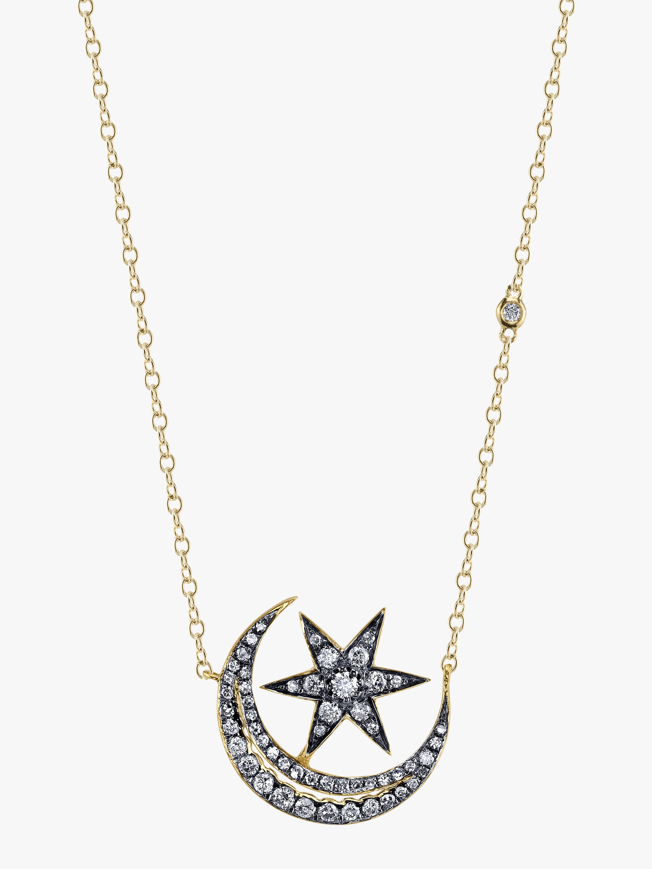 Crescent Moonstar Necklace