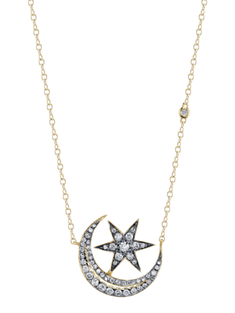 Crescent Moonstar Necklace