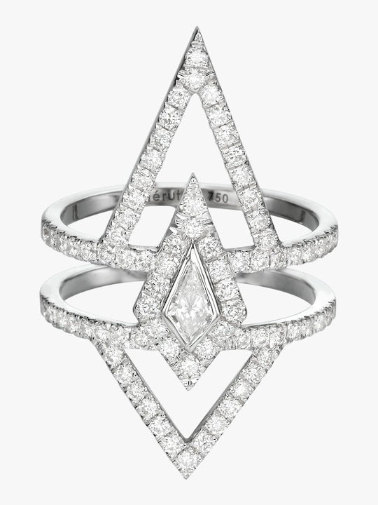 Chérut V.O.F Kite Diamond Ring 0
