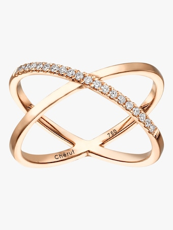 Thelma & Louise Diamond Cross Ring