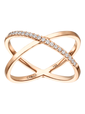 Thelma & Louise Diamond Cross Ring