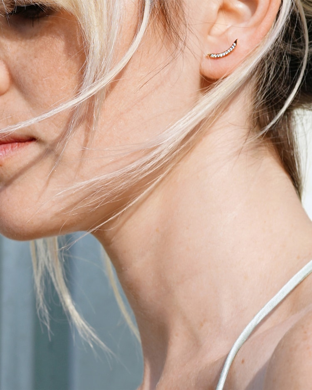 Sugarkane Single Curved Earring Chérut