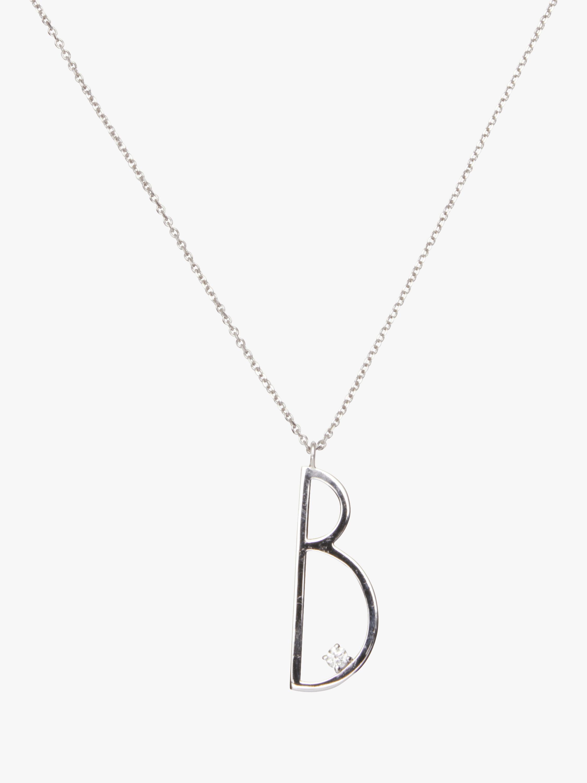 "Type Letter ""B"" Pendant"