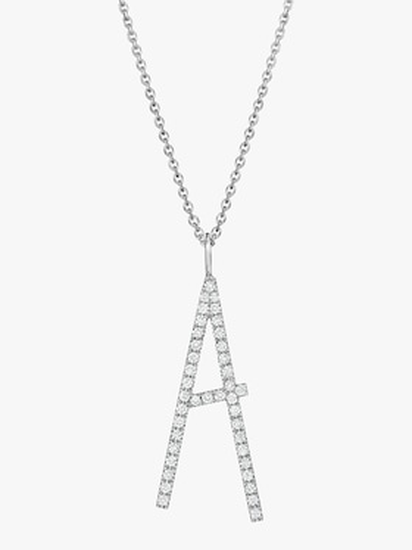 """Type Letter Pavé """"A"""" Pendant"""