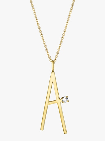"Mimi So Type Letter ""A"" Pendant 1"