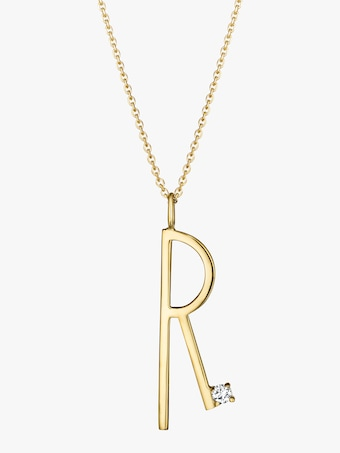 "Mimi So Type Letter ""R"" Pendant 2"