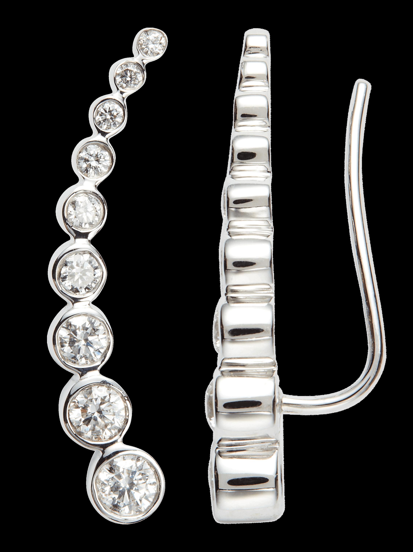 Diamond Granulated Climber Earrings