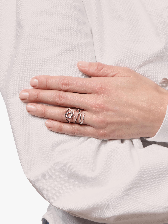 Gold, Black Diamond & Ruby Heart Ring