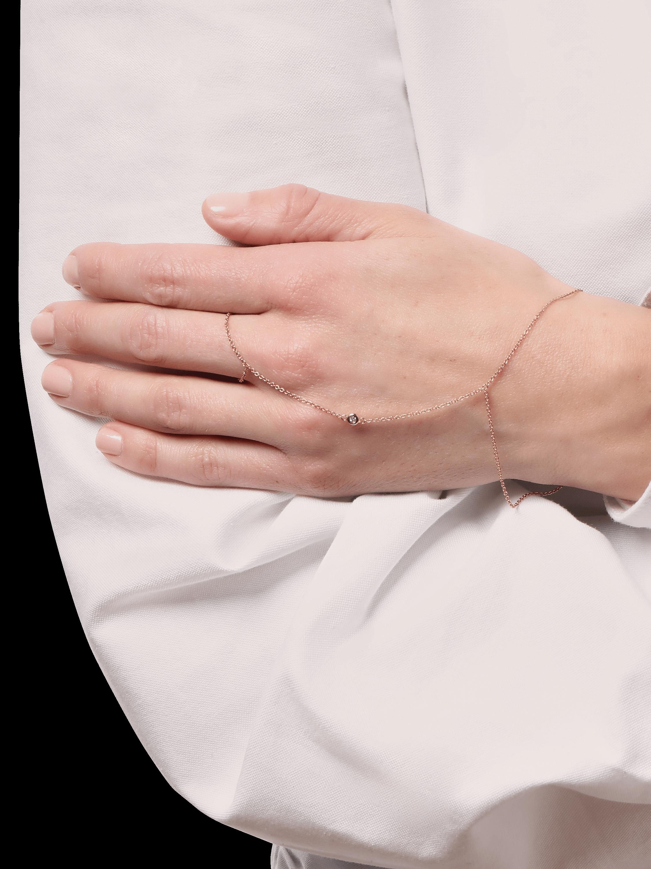 Diamond Bezel Finger Bracelet