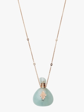 Aquamarine Potion Bottle Necklace