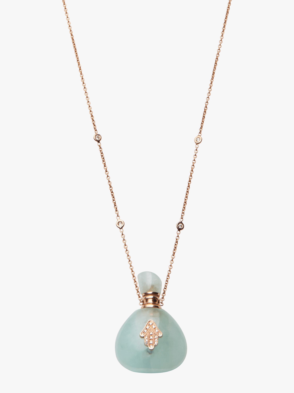 Aquamarine Potion Bottle Necklace