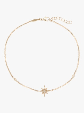 Moonstone Shining Star Anklet