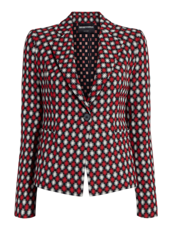 Checkered Fitted Blazer