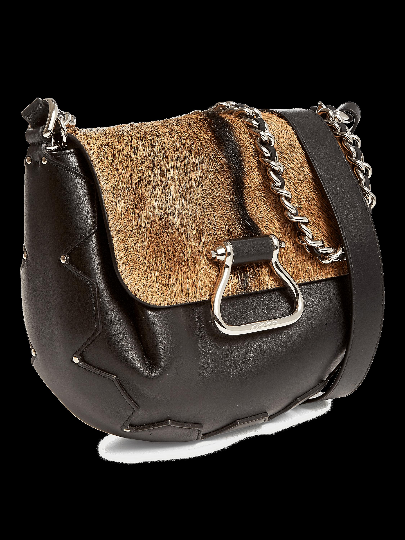 Goat Hair Leather Shoulder Bag