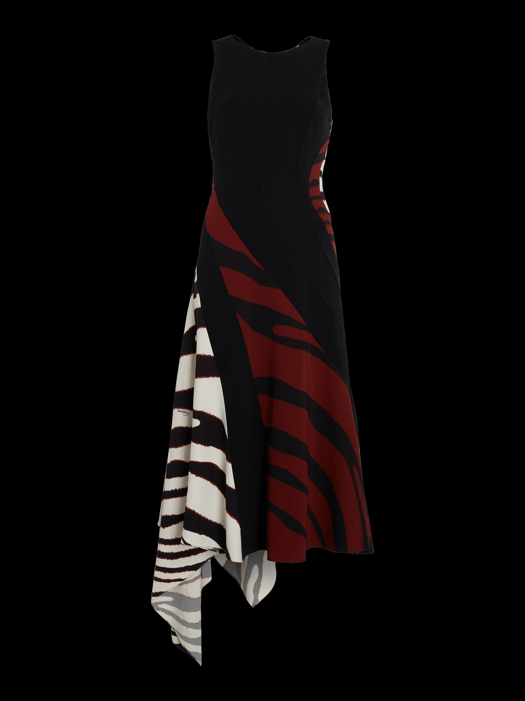Zebra Printed Asymmetrical Dress
