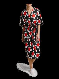 Cross Front V-Neck Dress
